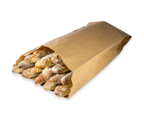 Sac en papier pour baguettes de pain