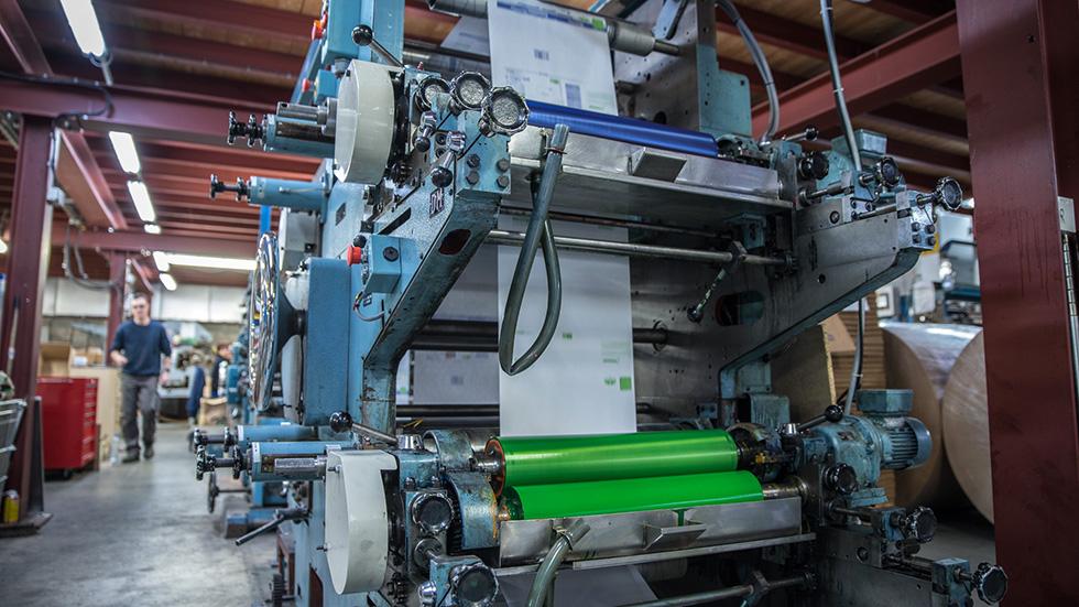 Machine d'impression personnalisée des sacs en papier