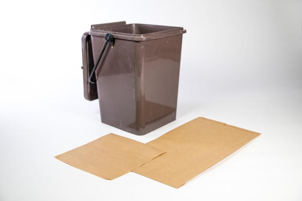 Sac en papier pour bio-déchets