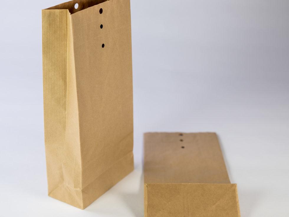 Sac kraft 3 soufflets 3 trous 2 rainages pour stockage et transport de graines
