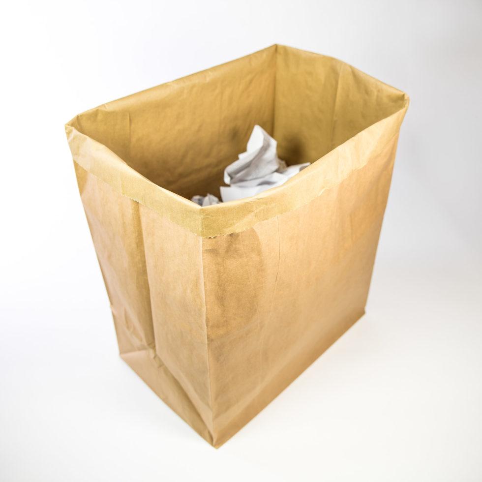 Sac en papier 3 soufflets pour collecte des déchets