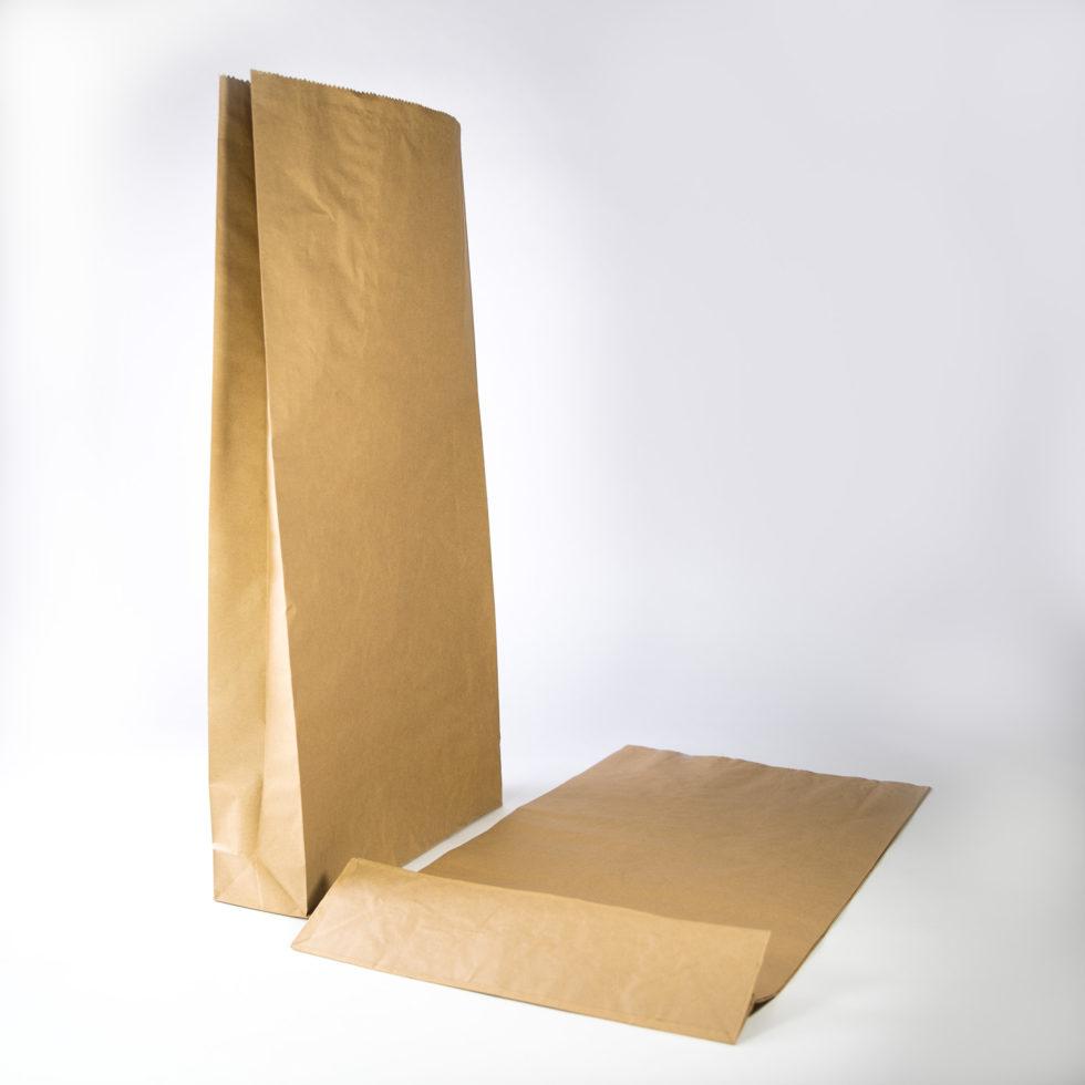 Sac en papier 3 soufflets avec fond renforcé