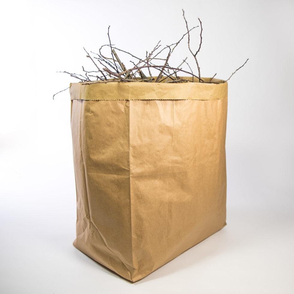 Sac en papier pour collecte des déchets végétaux