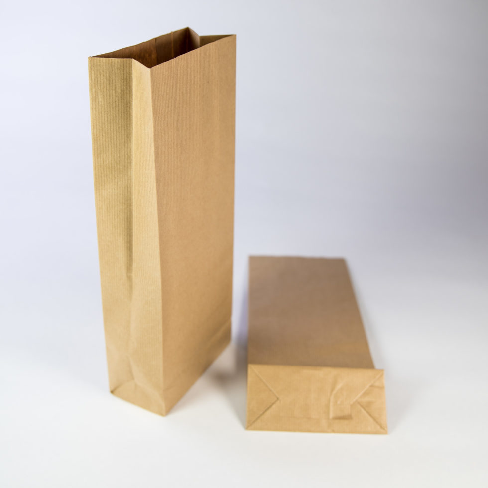 Sac en papier kraft 3 soufflets pour stockage