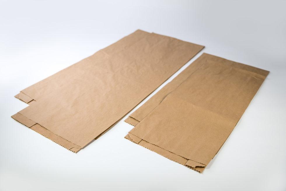 Sac en papier de regroupement pour le pain