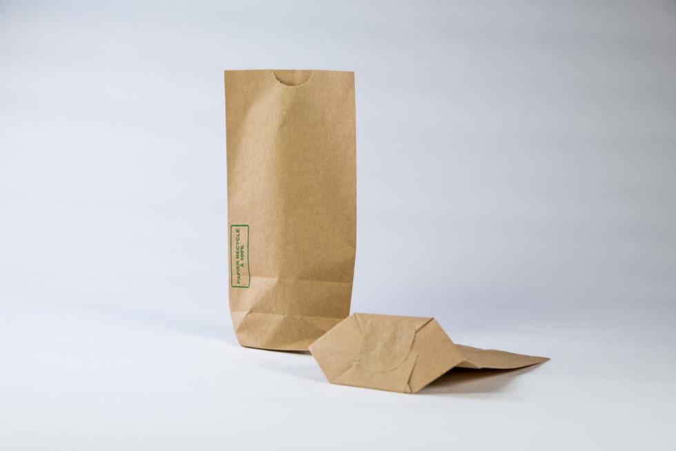 Sac écorné en papier recyclé à 100%