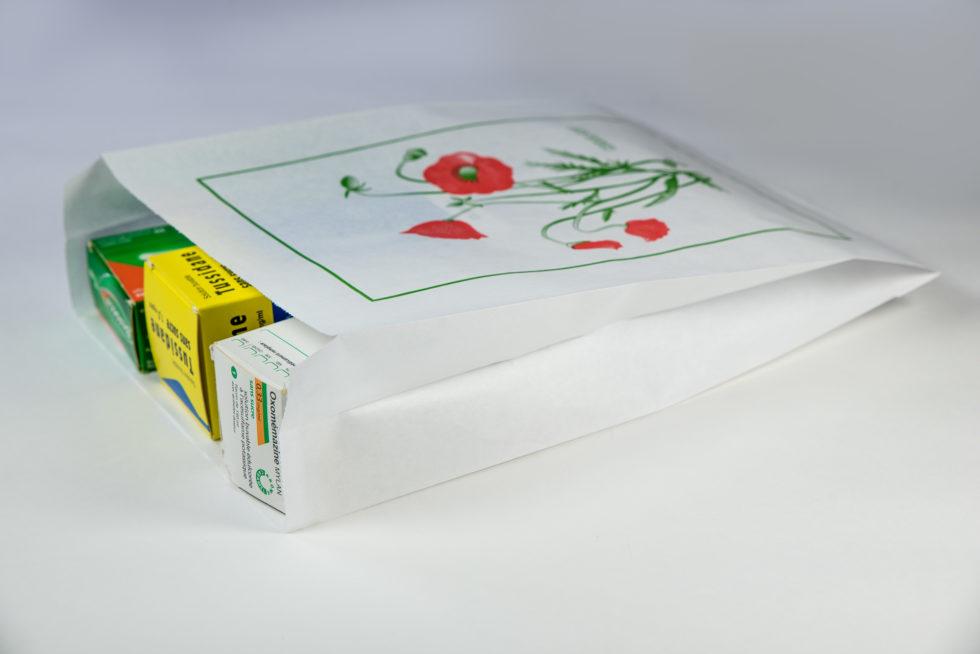 Sac en papier pharmacie