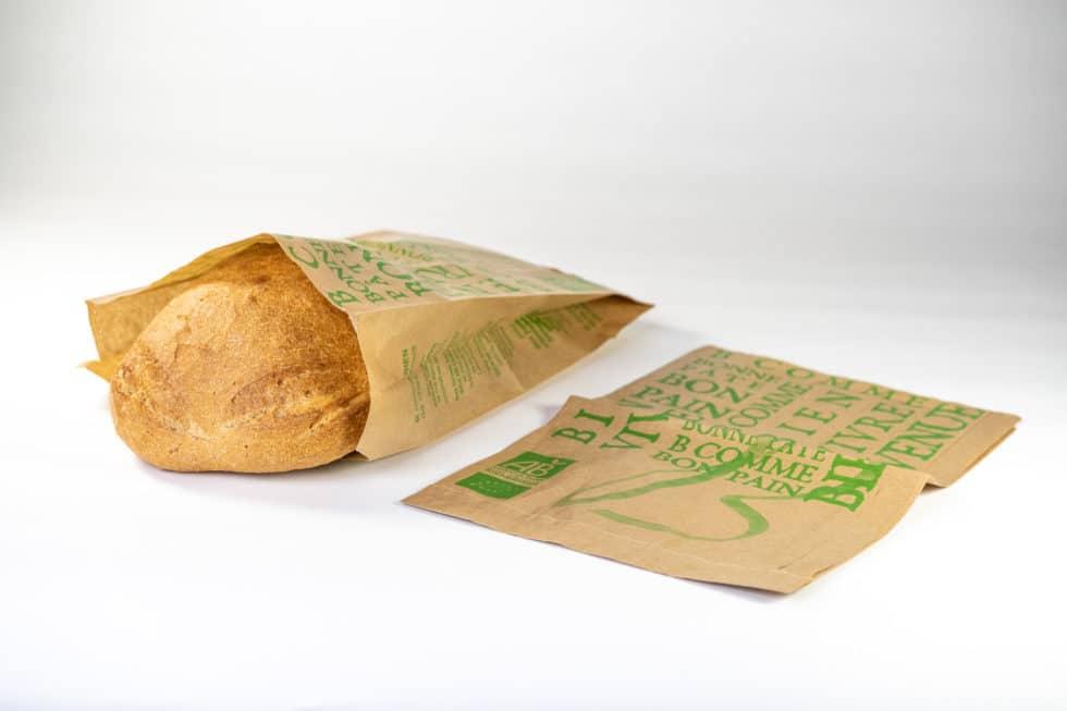 Sac en papier 2 soufflets pour boulangerie