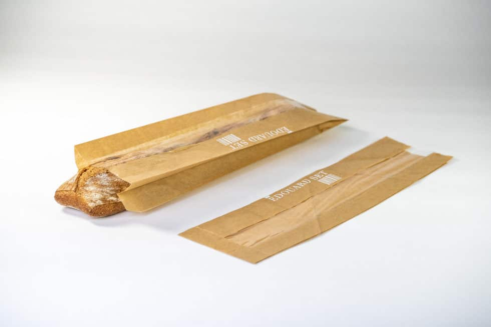 Sac en papier pour baguette avec fenêtre