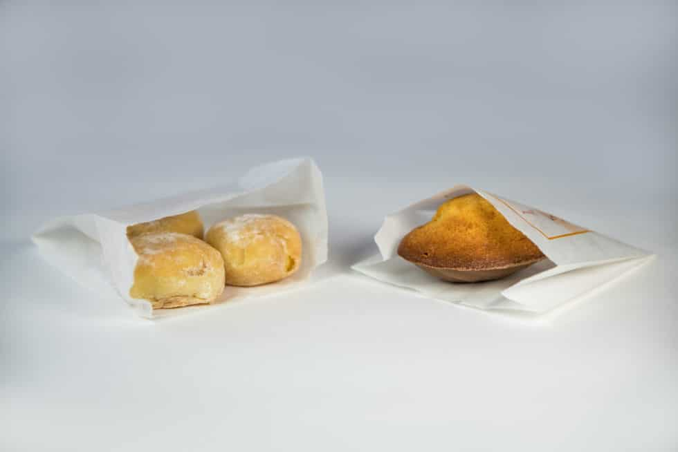 Sac en papier kraft blanchi pour les boulangeries