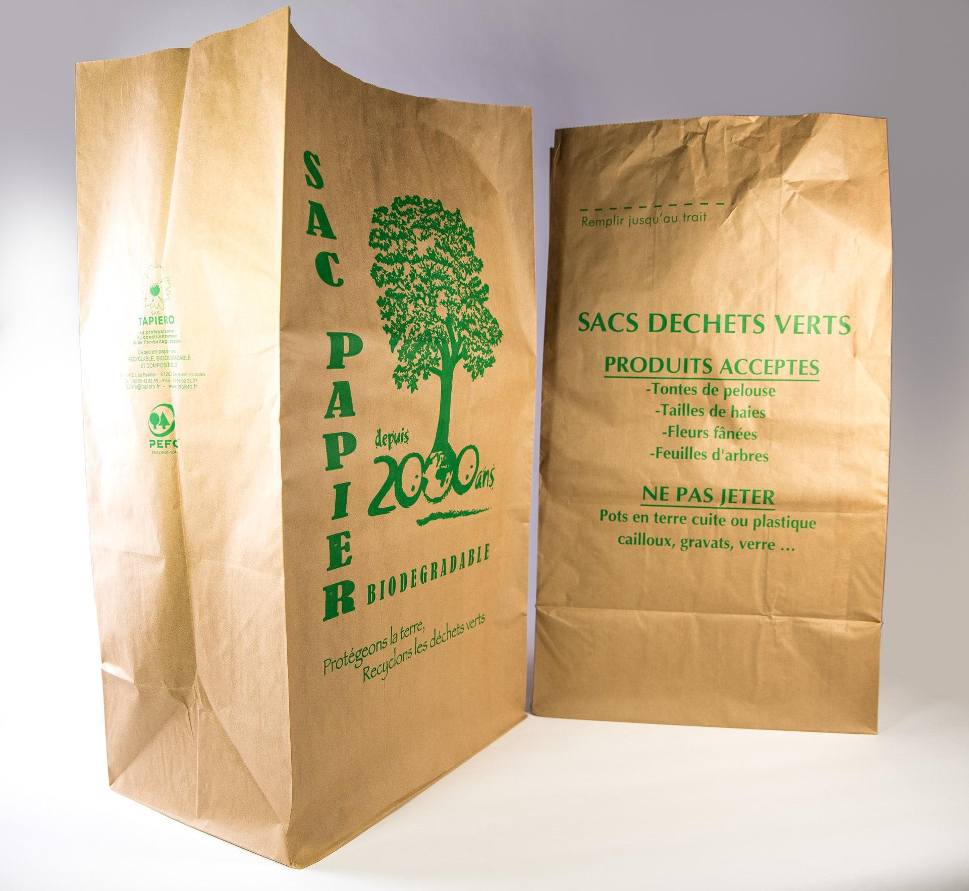 Sac en papier avec fond renforcé pour Déchets verts