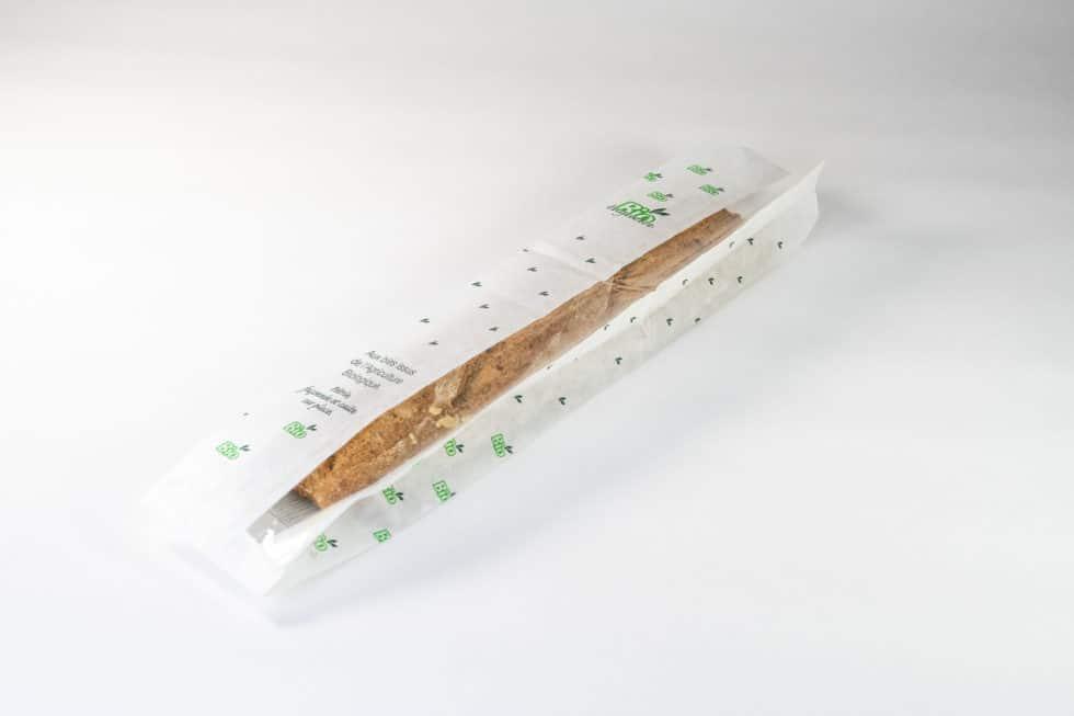 Sac en papier biodégradable pour baguette avec fenêtre