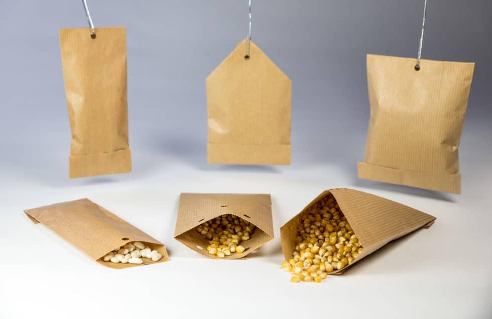 Différents sacs plat en papier pour champs