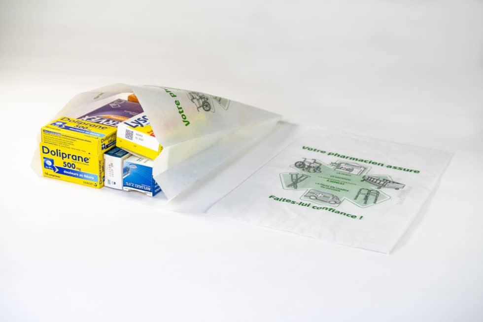 Sac en papier 2 soufflets pour les pharmacies