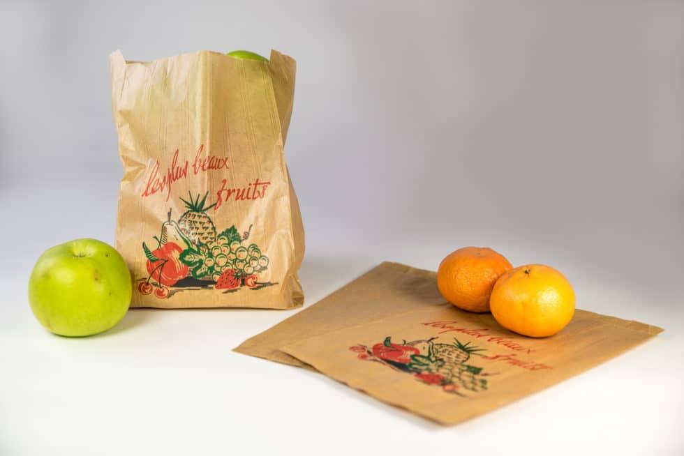 Sacs en papier kraft pour les fruits