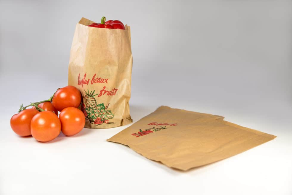 Sac légumes en kraft personnalisable