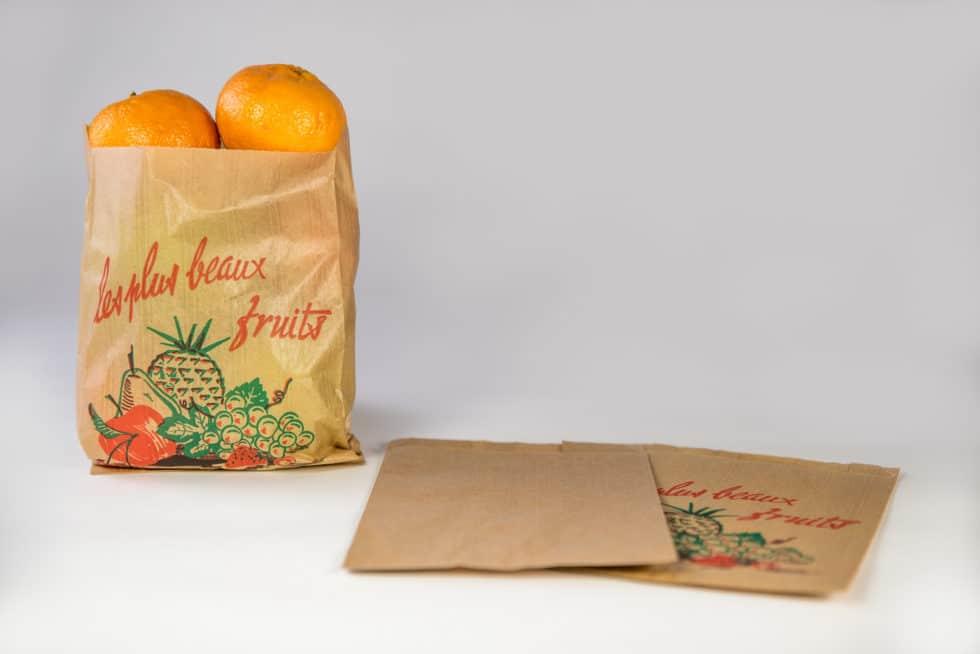 Sac en papier fruits personnalisable