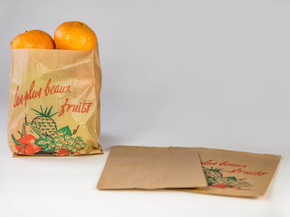 Sac en papier fruits personnalisable