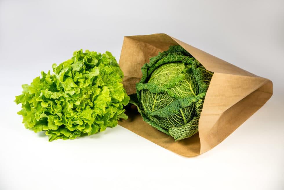 Sac en papier fruits et légumes personnalisable