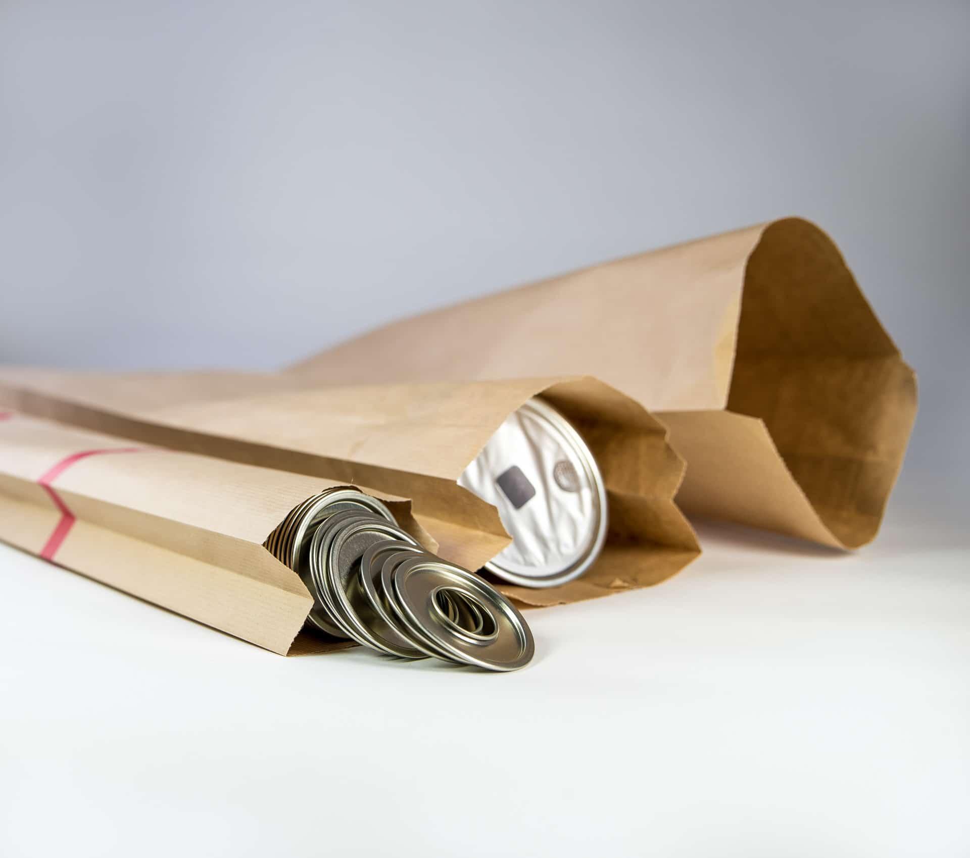 Sac en papier couvercle